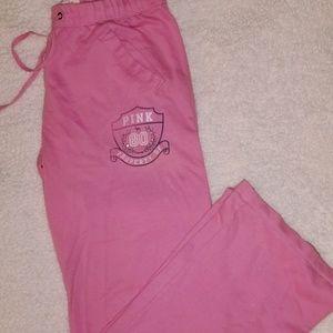 Pink Victoria's Secret Boyfriend lounge pants